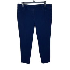 New York & Company stretch blue ankle/crop pants
